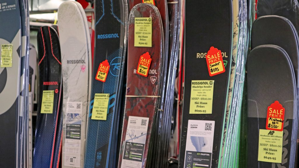 sale skis at ski haus steamboat