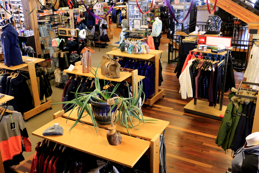 Plenty of choices of skiwear and winter apparel during sale season Inside Ski Haus