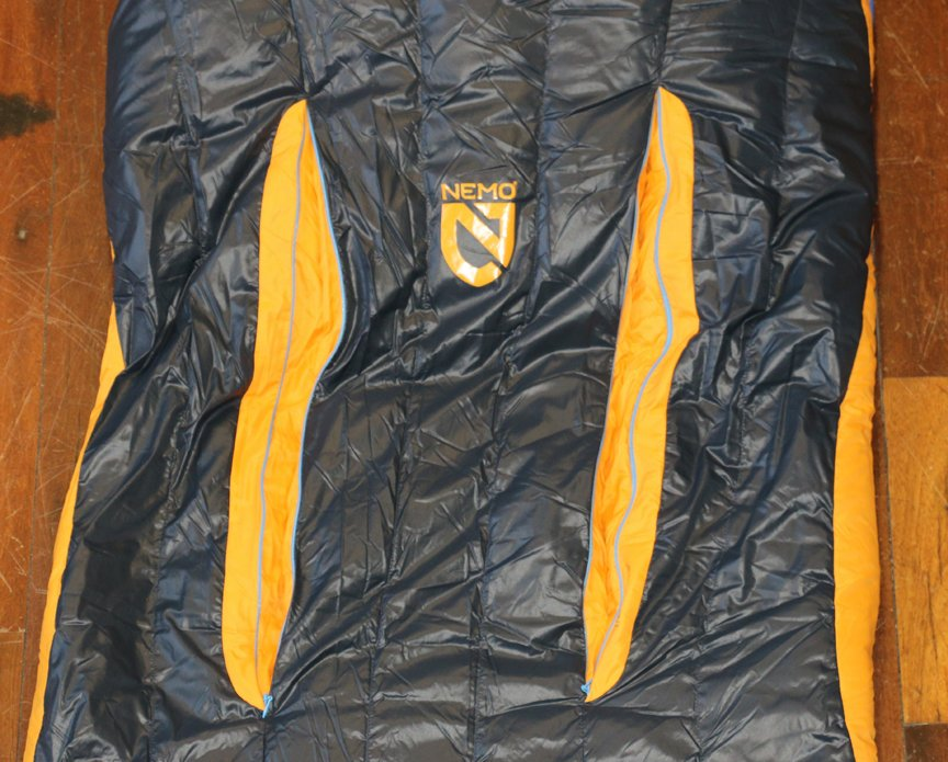 Thermo Gills on a nemo sleeping bag at Ski haus in Steamboat Springs Colorado