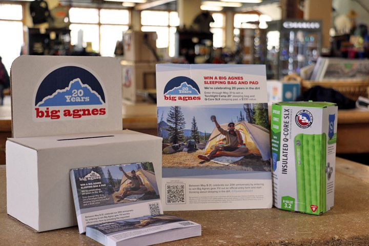 The easy to fill out and win Big Agnes entry form