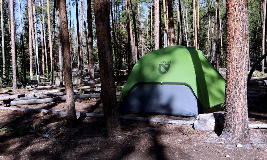 Dragonfly tent made by Nemo pitched in RMNP Colorado