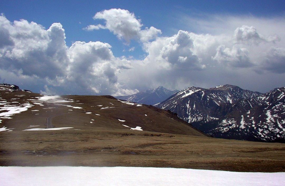 Wonderful big vistas on in Rocky Mountain National Park on Trail Ridge Road